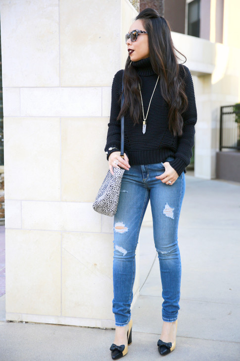 Joe's Jeans Chunky Turtleneck Sweater with Etienne Aigne