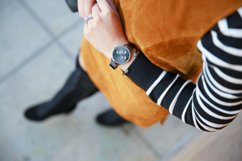 An Dyer wearing Charming Charlie Watch