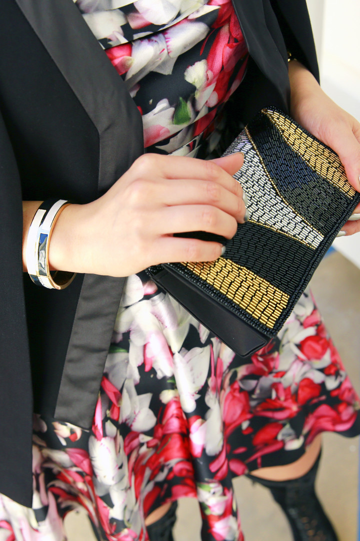 Charming Charlie Beaded Clutch