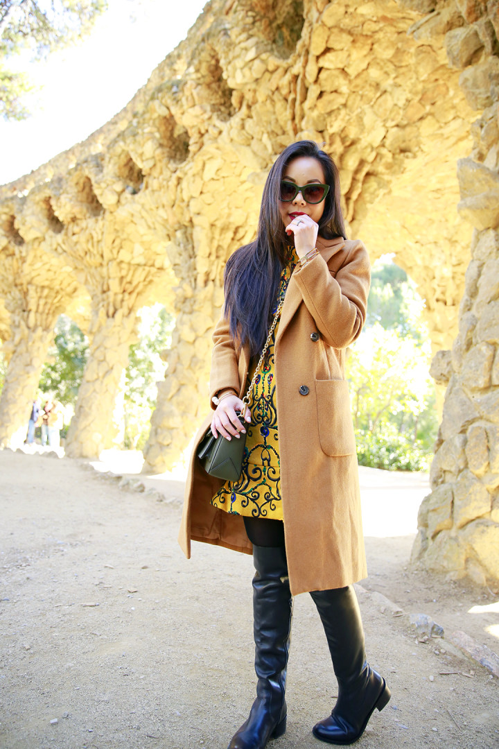 An Dyer wearing ChicWish at Park Guell Barcelona