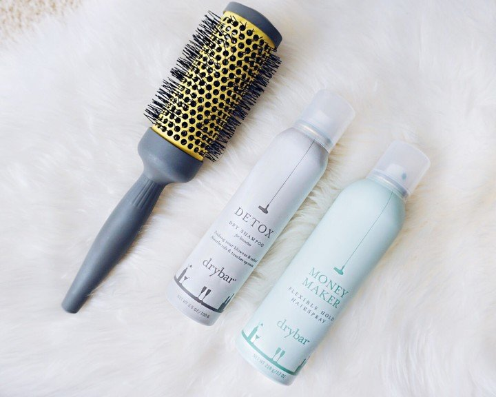 Drybar Double Pint Large Round Ceramic Brush, Detox Dry Shampoo for Brunettes & Money