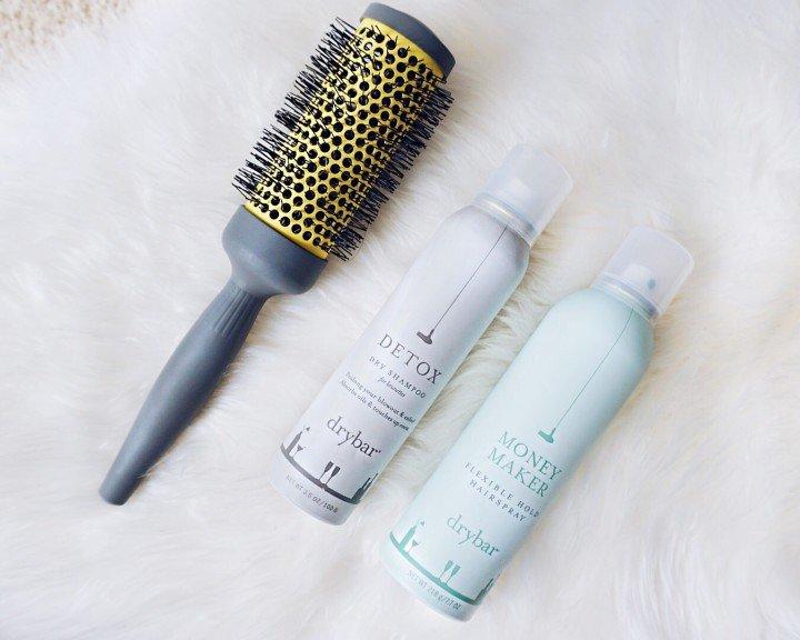 Drybar Double Pint Large Round Ceramic Brush, Detox Dry Shampoo for Brunettes & Money