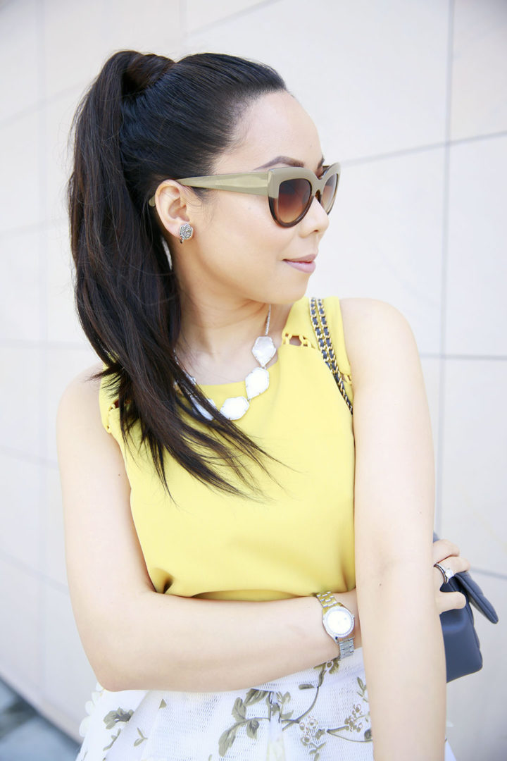 An Dyer wearing RPZL Ponytail Extension 2