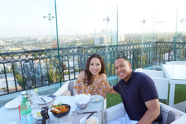An & Chris Dyer at the Boxwood On The Roof The London WeHo Beverly Hills