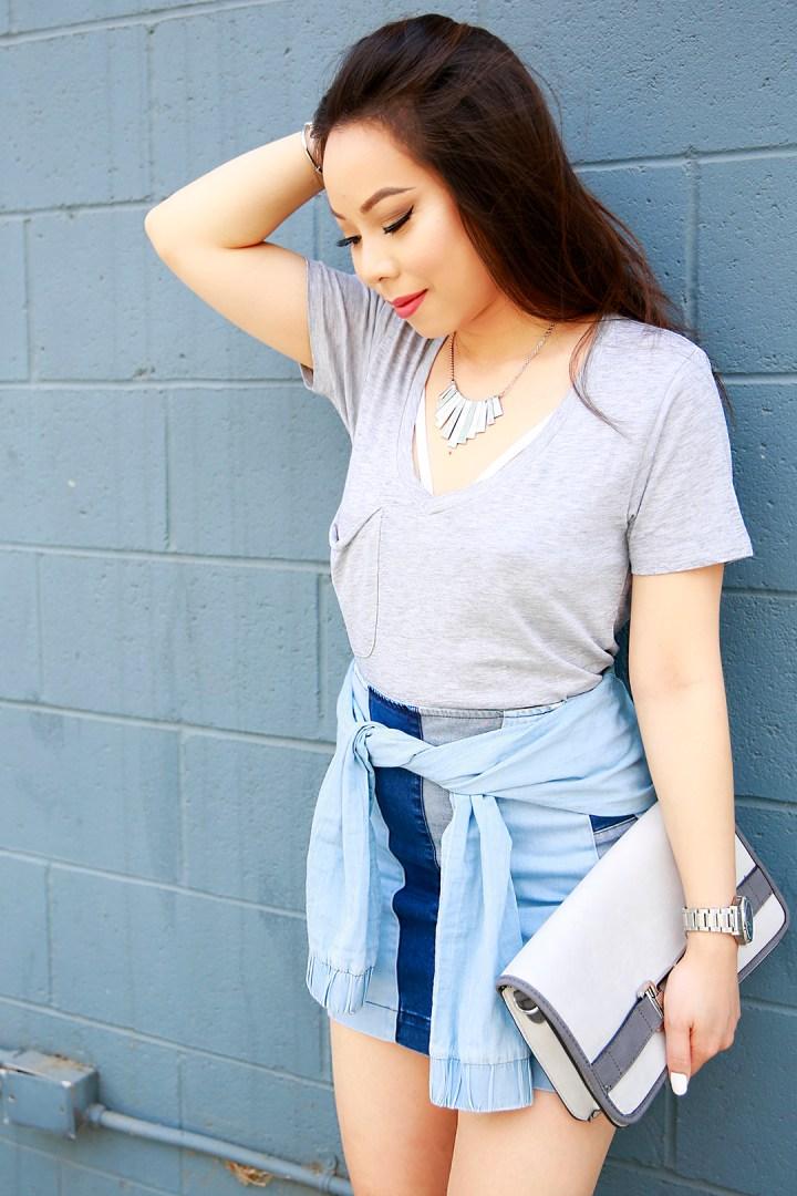 An Dyer wearing Z Supply Grey Tshirt