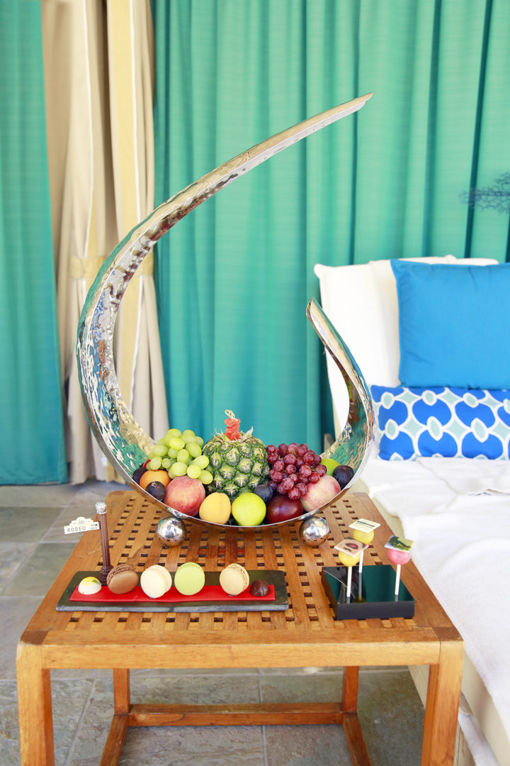 Beverly Wilshire Pool Cabana Fruit Tower