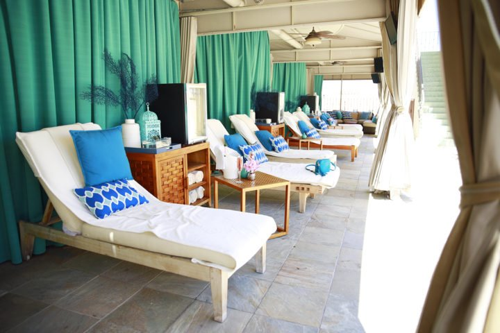 Beverly Wilshire Pool Cabanas