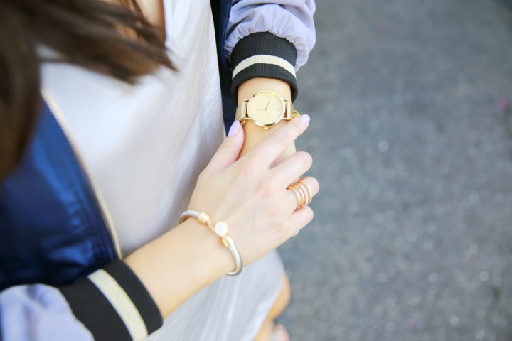 An dyer wearing Charming Charlie x People Stylewatch Watch