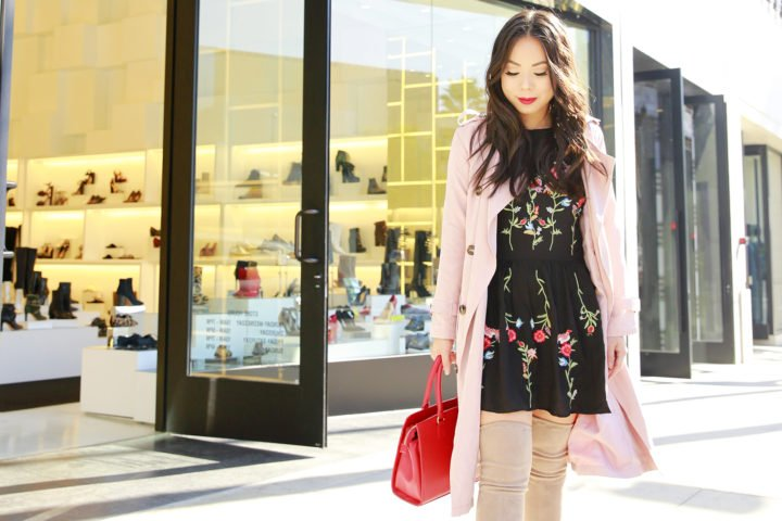 an-dyer-wearing-chicwish-pink-trench-coat