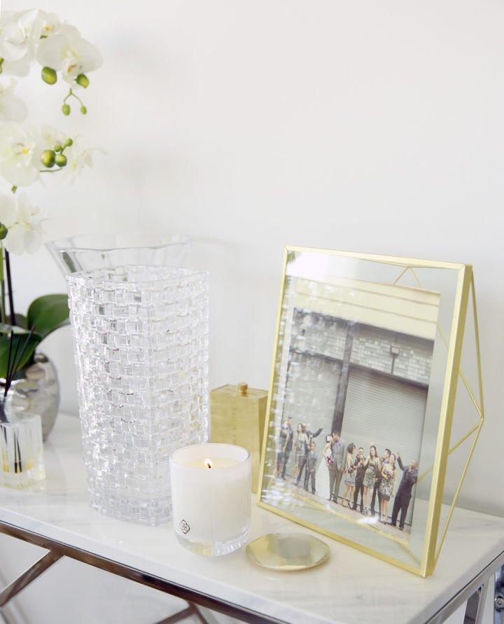 Kendra Scott Candles Home Decor Crystal Umbra Gold Frame
