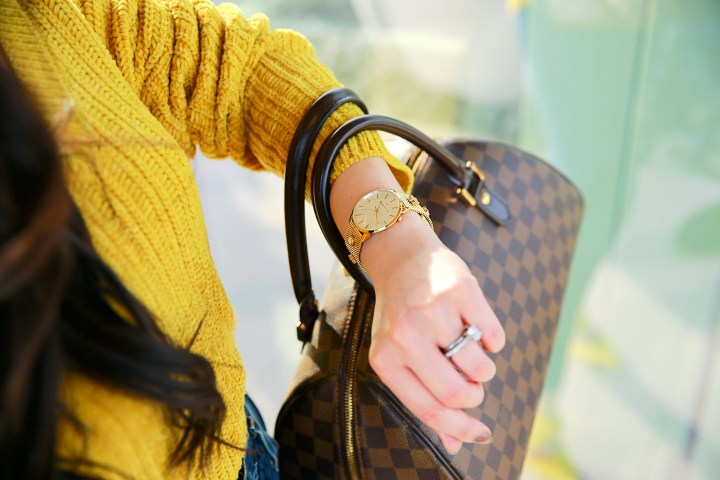 Blogger wearing Thom Olson Louis Vuitton