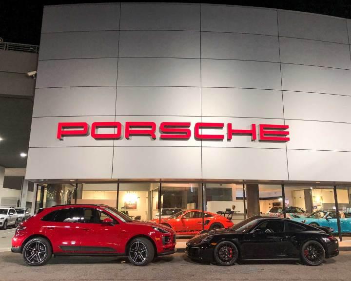 2019 Porsche Macan S Carmine Red Porsche Carrera 911 GTS Blacked Out