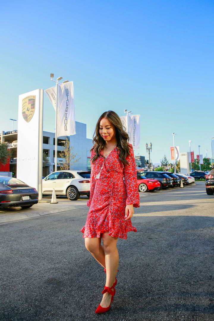 Lifestyle Blogger An Dyer at Downtown Los Angeles Porsche Dealership
