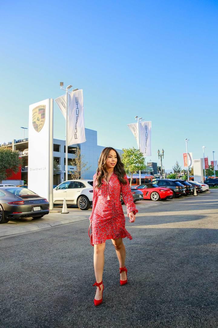 Fashion Blogger An Dyer at Downtown Los Angeles Porsche Dealership