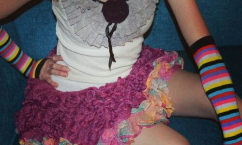 Ruffle Tutu Skirt in Berry Blast