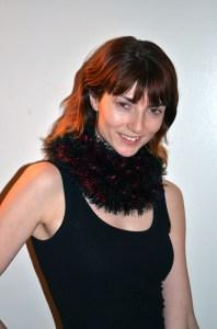 Fun Fur and Eyelash Yarn Moebius Cowl