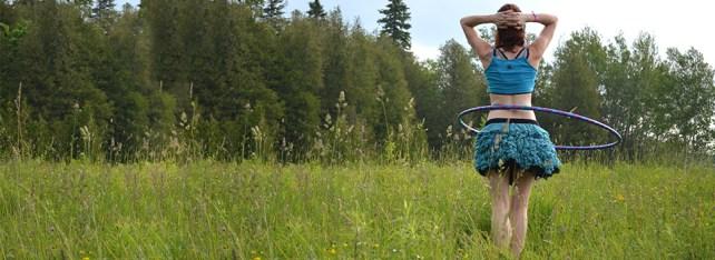 Haute Revel Elektra Blu Hoopin' Skirt