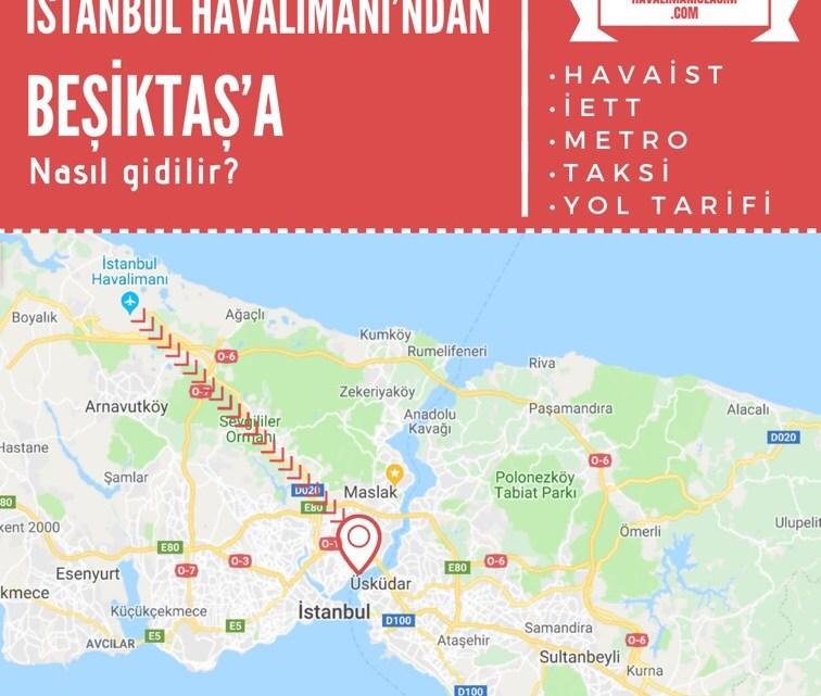 İstanbul Havalimanı'ndan Beşiktaş'a Ulaşım Bilgileri