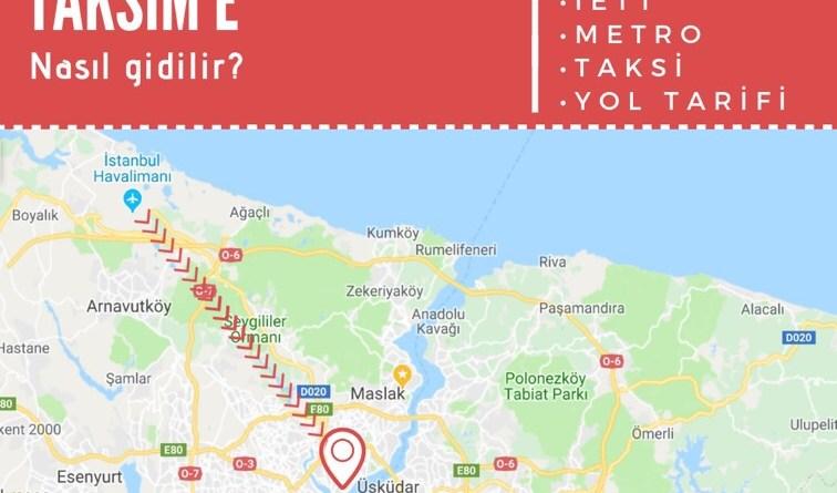 istanbul havalimanından taksime ulaşım