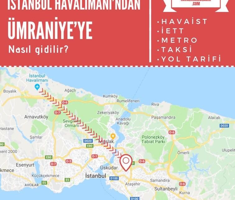 İstanbul Havalimanı'ndan Ümraniye'ye Ulaşım Bilgileri