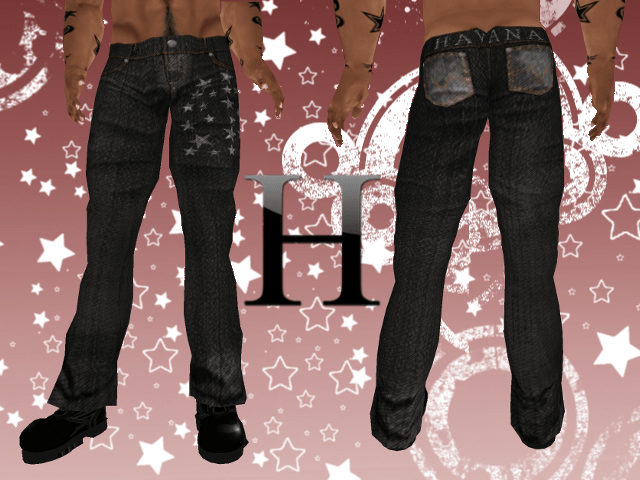 Starry Night Jeans Low Rise - Black
