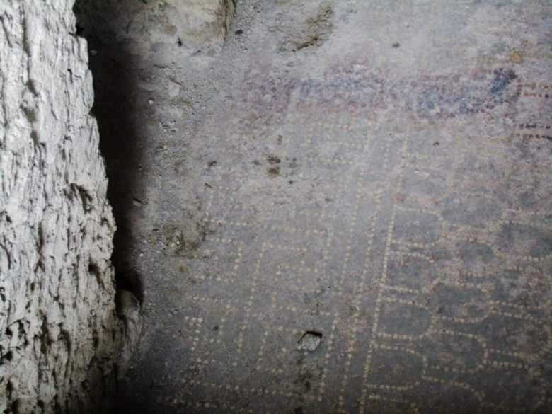 The old home's original flooring. How cool is that?