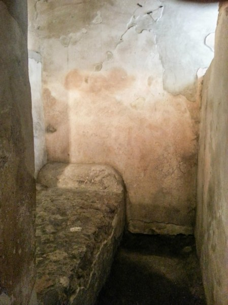 The stone beds inside the brothel, so the patrons wouldn't pass out so easily.