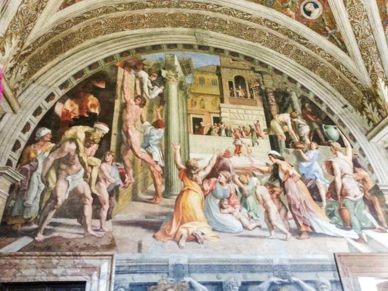 """""""Fire in the Borgo"""" fresco."""
