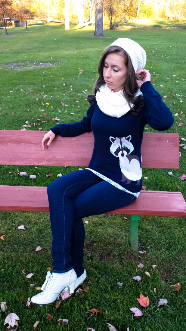 Raccoon sweater from Sugarhill Boutique
