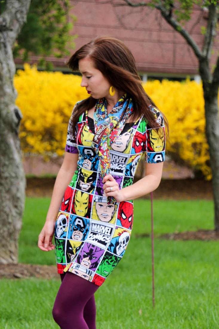 Marvel Comics dress and scarf