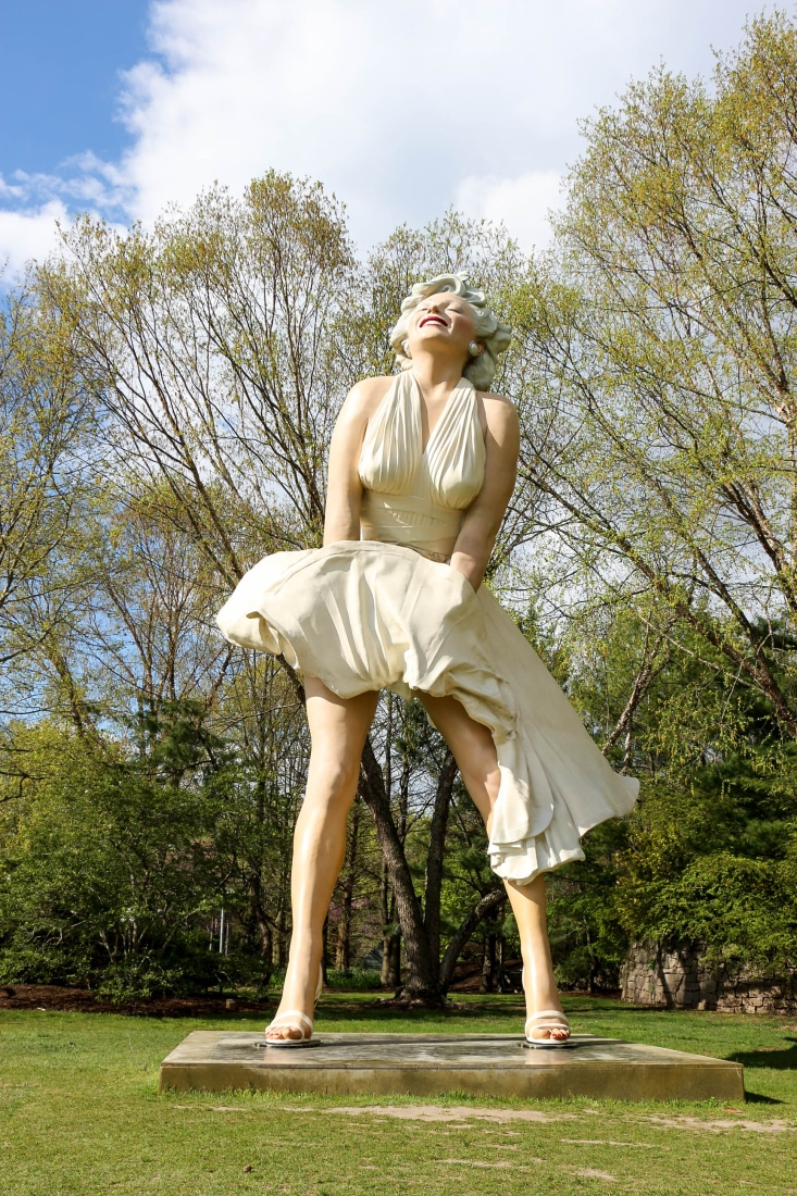 Marilyn statue Grounds for Sculpture