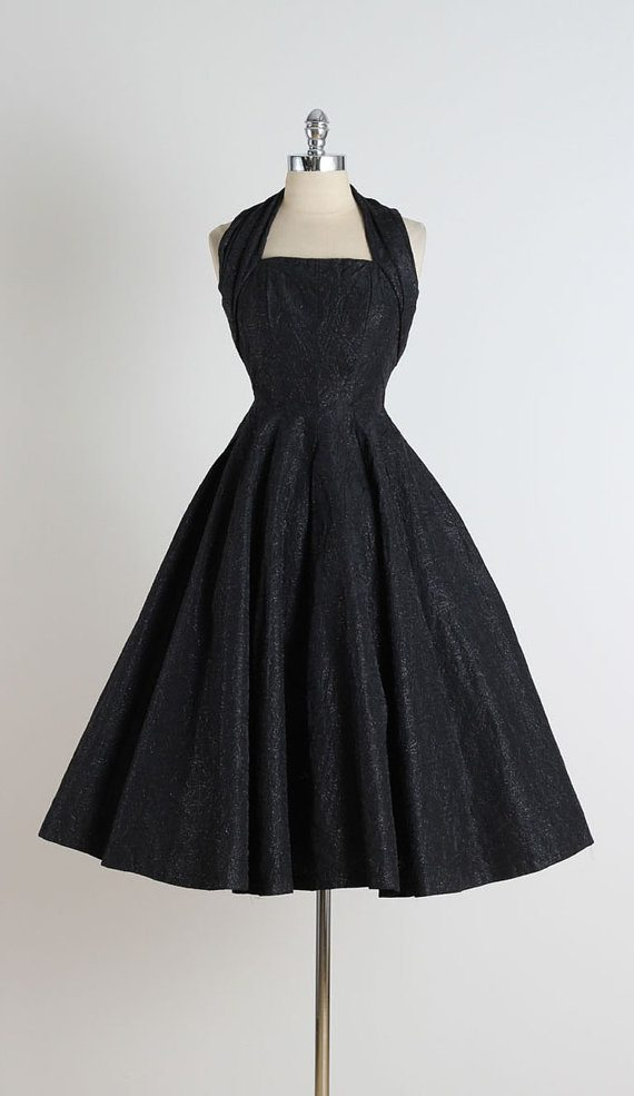 Vintage 1950 Cocktail Dress: millstreetvintage