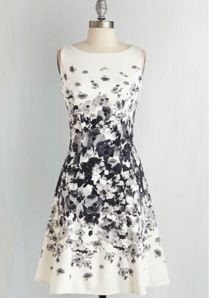 ModCloth black and white dress
