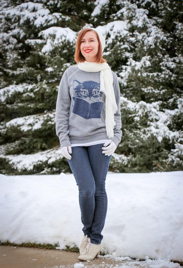 Kitty sweatshirt ModCloth