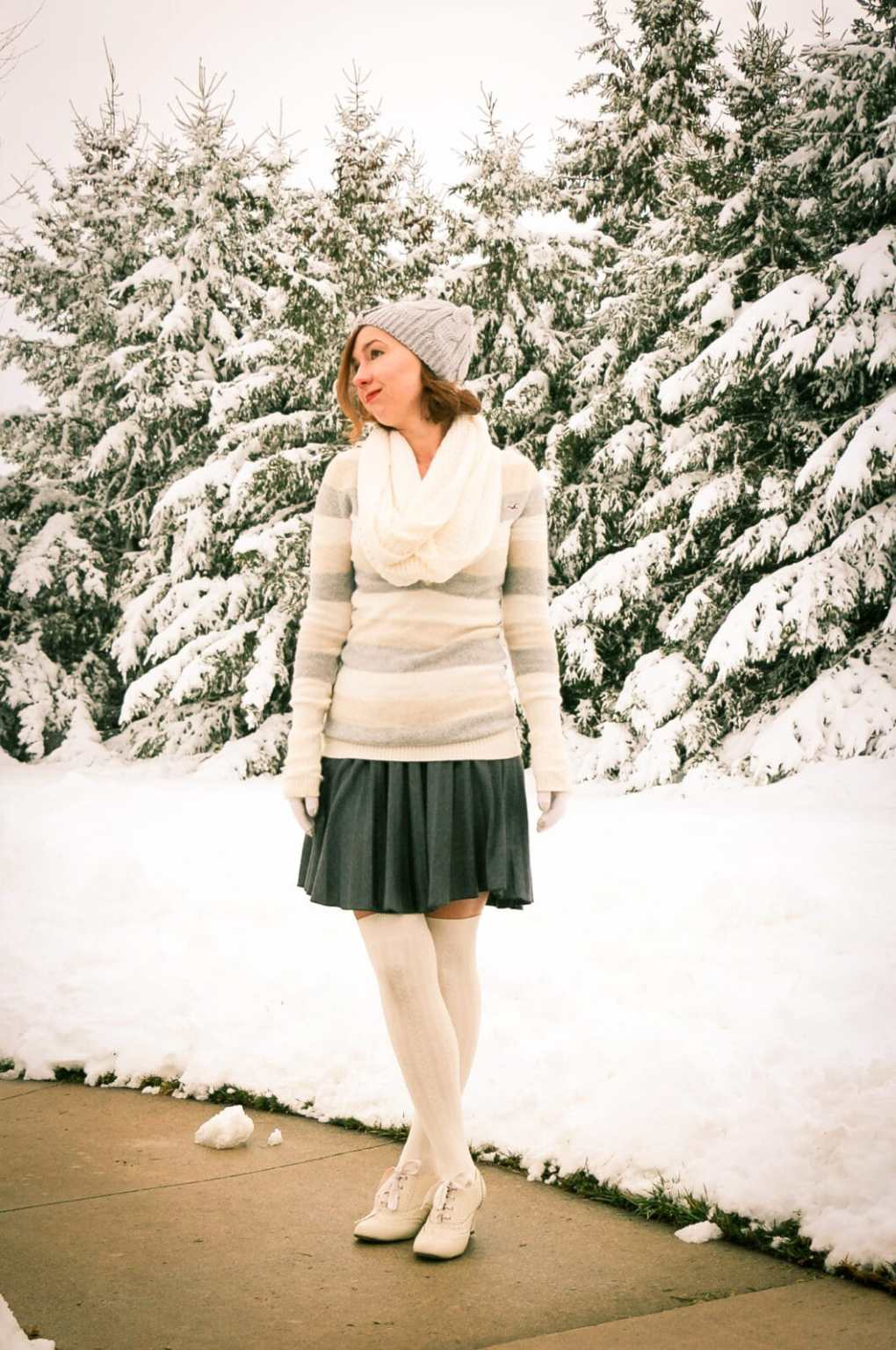 ModCloth skirt and socks