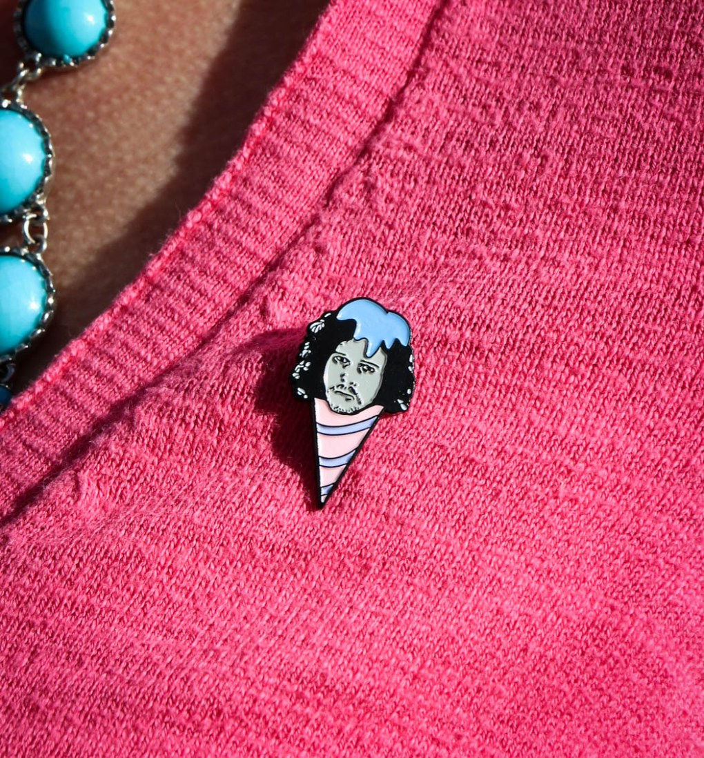 Jon Snow Snow Cone Pin