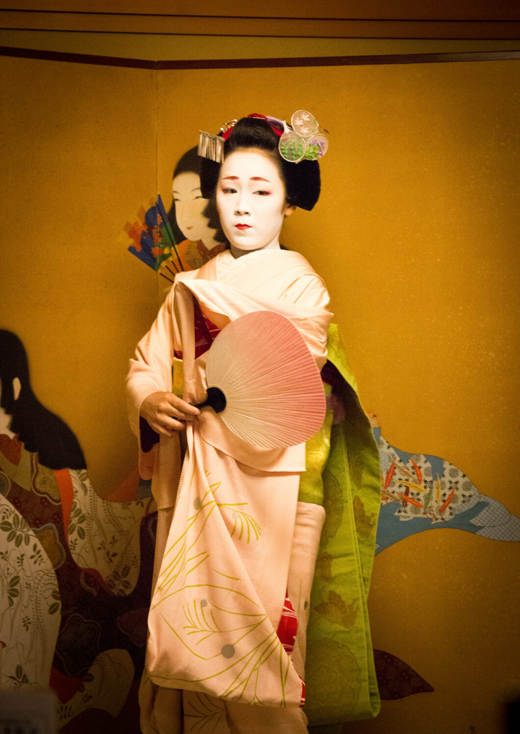 A Maiko performing in Kyoto