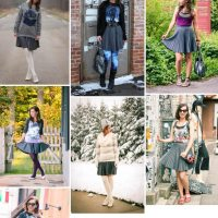pleated skirt outfit remix