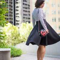 Fashionmia polka dot flare dress
