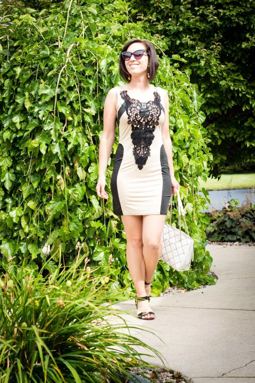 FashionMia lace bodycon dress