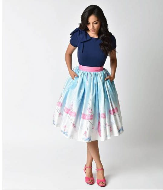 1029c00519e 10 of the Cutest Printed Midi Skirts (Available Online) % -Have ...