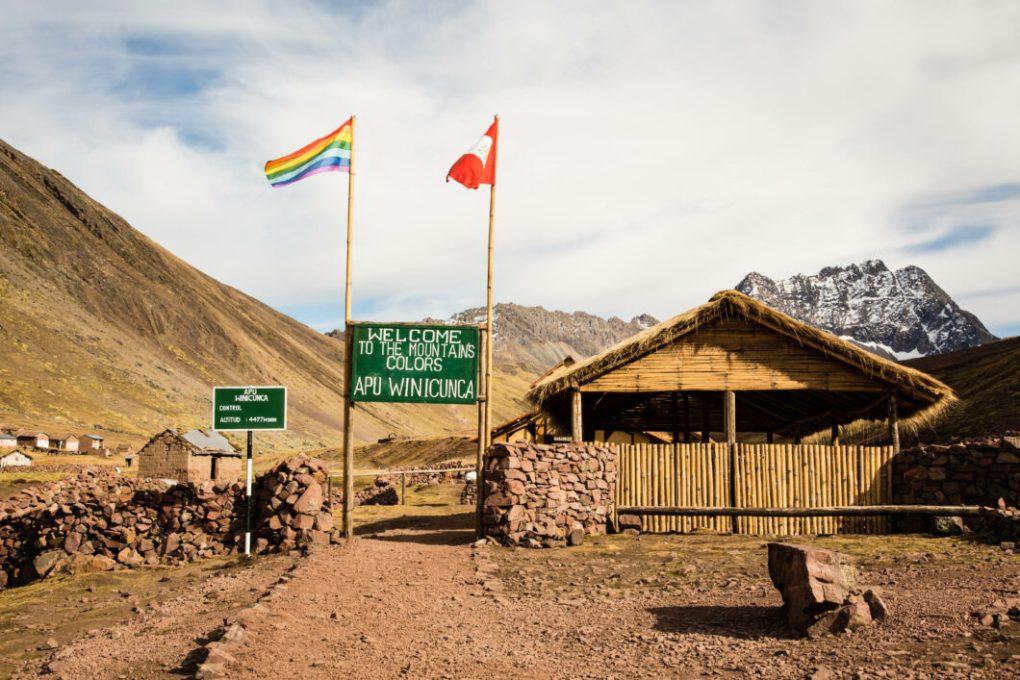 Rainbow mountain entrance