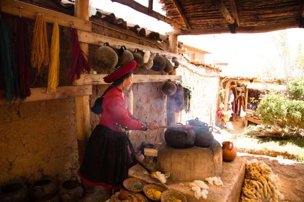 Alpaca wool making process