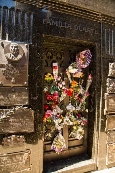 Where Eva Peron is buried.