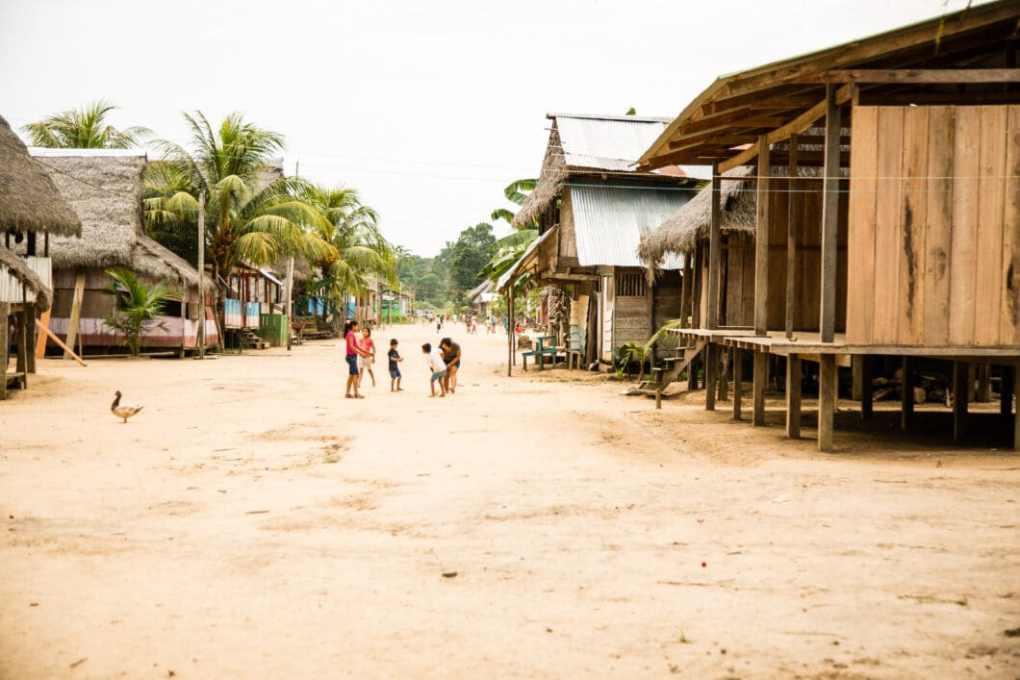 Village in Peru's Amazon Rainforest