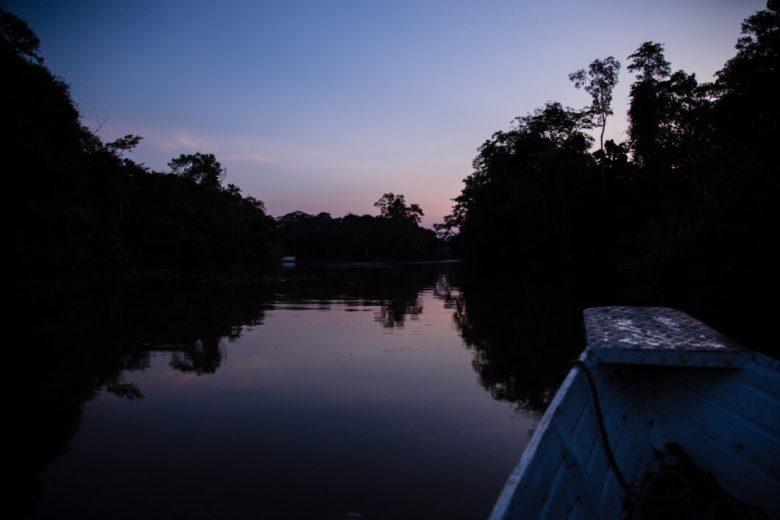 Amazon river sunset