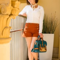Vintage inspired shorts outfit