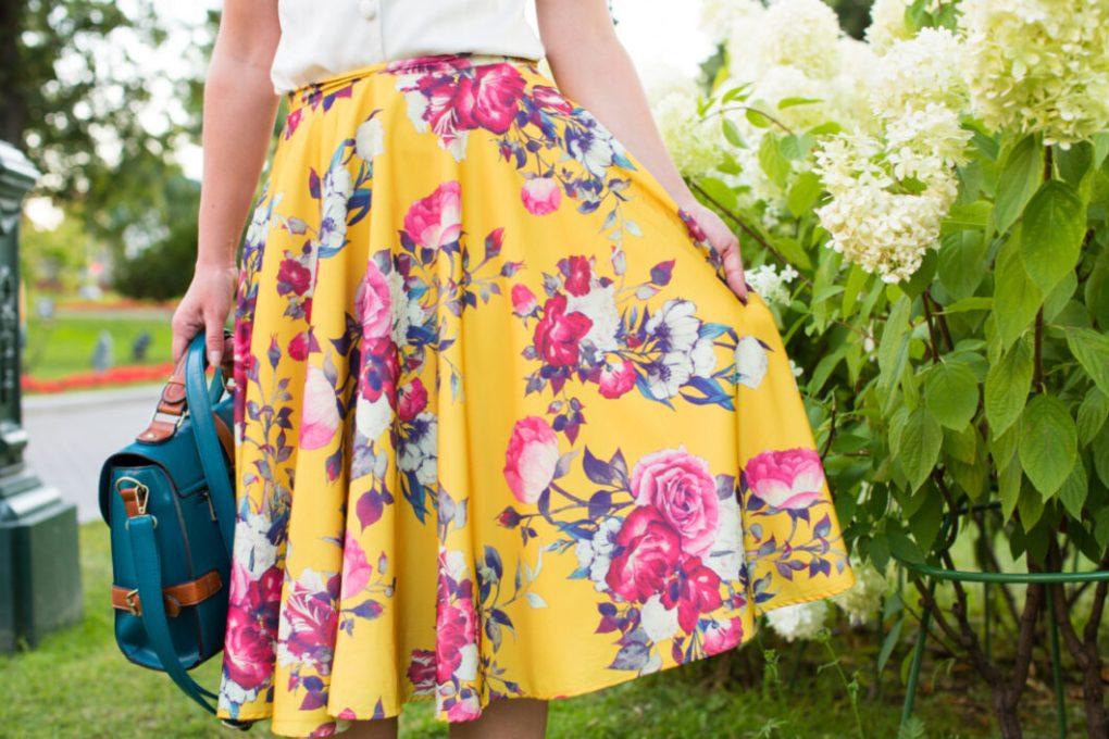 Floral skirt MOdCloth
