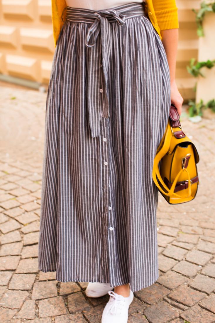 Shein striped maxi skirt