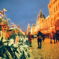photos of Christmas in Moscow, Russia